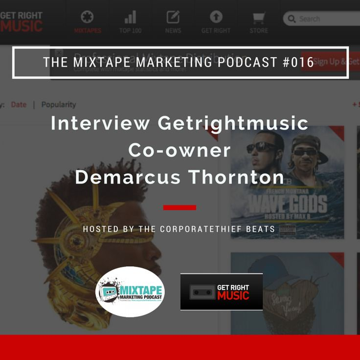 Mixtape Marketing Podcast 16 With Getrightmusic.com Co-owner Demarcus Thornton
