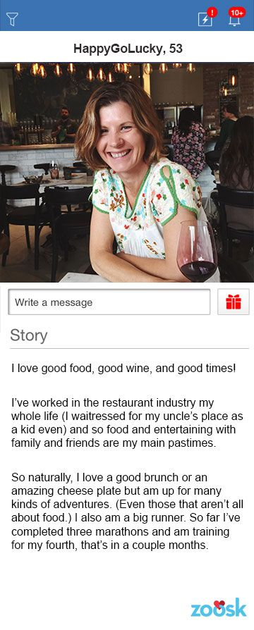 Funny girl dating profile