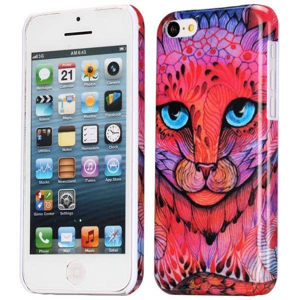 Stylish cat hardcase hoesje iPhone 5C