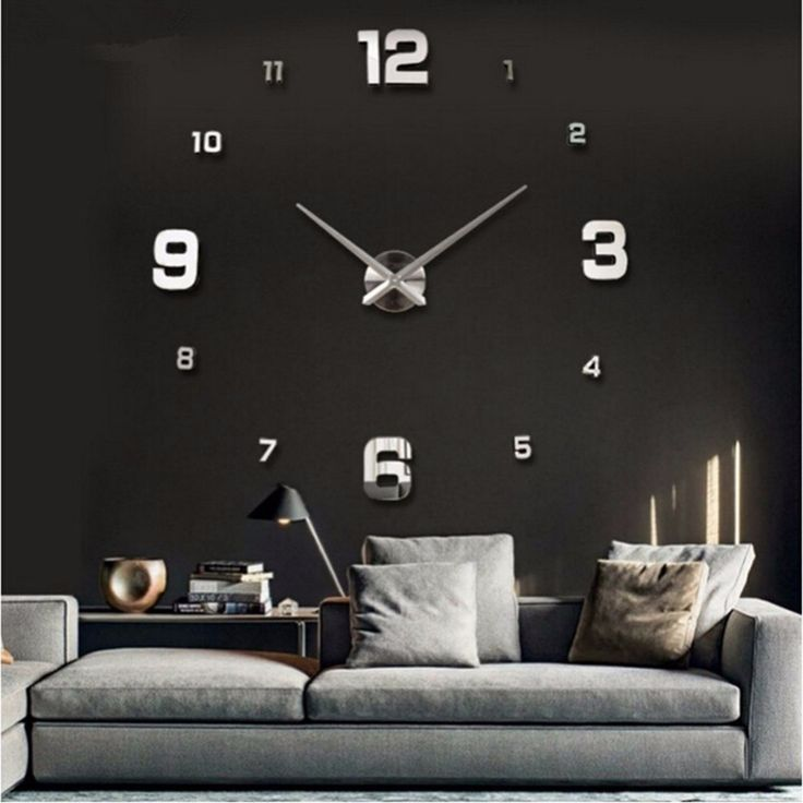 Classical Wall Stickers Home Decor Posters Acrylic Mirror Wall Clock 3D Wall Posters Living Room Decor Crafts Wall Clock D9440