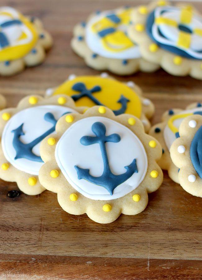 Nautical Sugar Cookies | The Blonde Buckeye