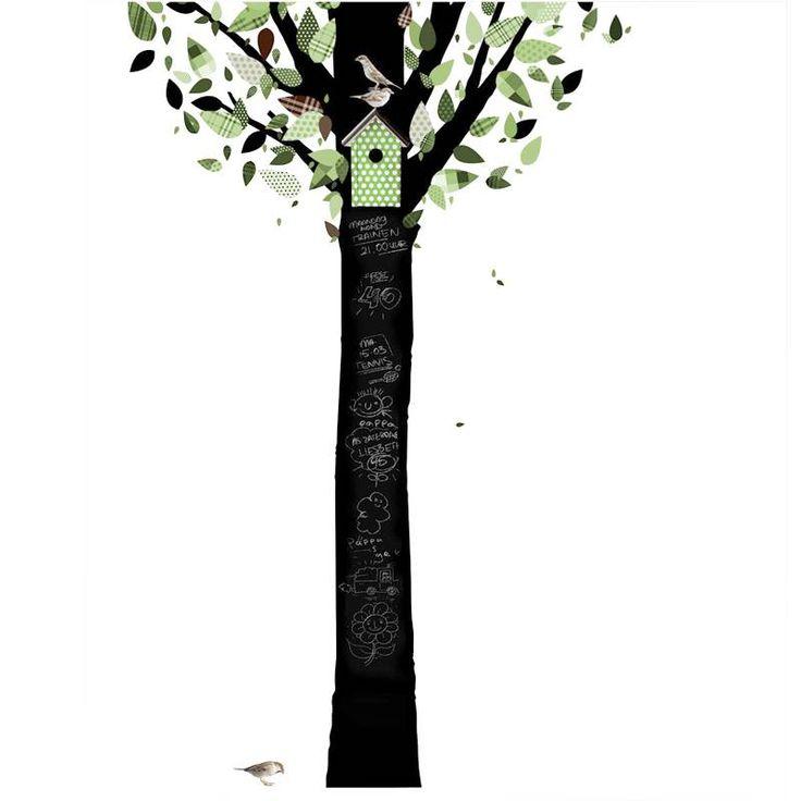Muurstickers Schoolbordboom 1 Groen van het merk KEK Amsterdam hier online kopen. Kekke muursticker boom schoolbord groen voor babykamer of kinderkamer.
