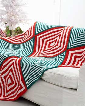 blanketBlankets Knits, Easy To Mak Pattern, Wonder Stripes, Holiday Blankets, Mitered Christmas, Mitered Holiday, Knits Pattern, Christmas Blankets, Blankets Pattern