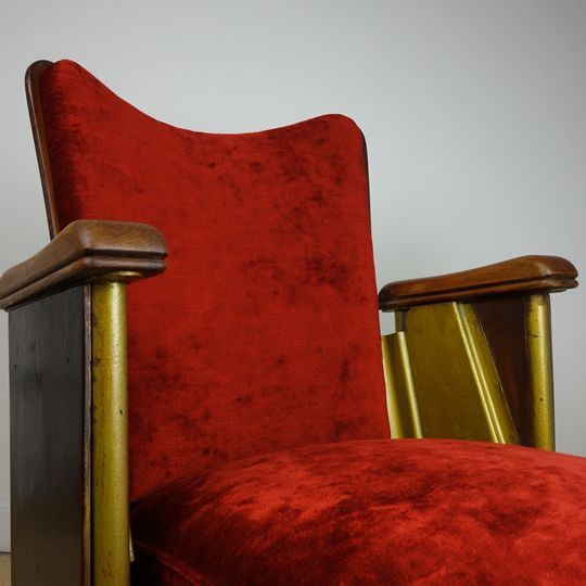 Cinema seat by Fibrocit, sourced and available to buy in Scotland, from Back & Forth.
