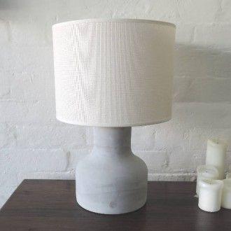 lovebug concrete table lamp with cream shade
