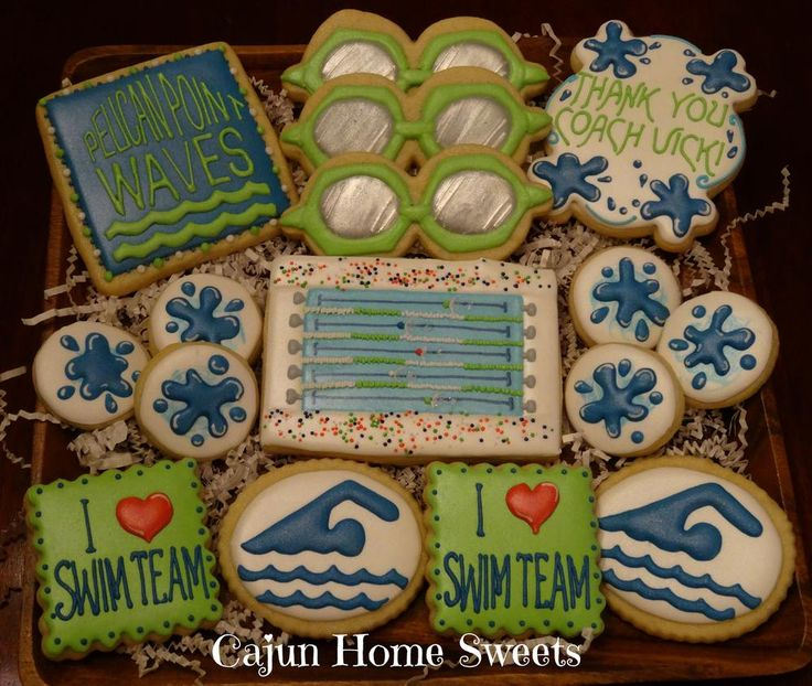 Swim Team Cookies | Cookie Connection