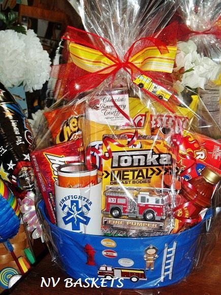 Firefighter Gift Basket Valentine S Day Gift Baskets