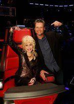Dolly parton, Blake shelton and The voice on Pinterest