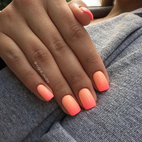 Ombre manicure # ombre # nagels # nagels # design nagels …