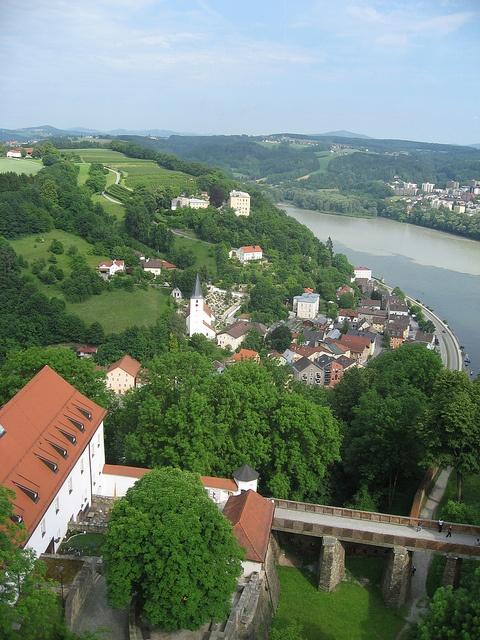 Three rivers- Danube , Inn, Ils Rivers  Passau, Germany 2012