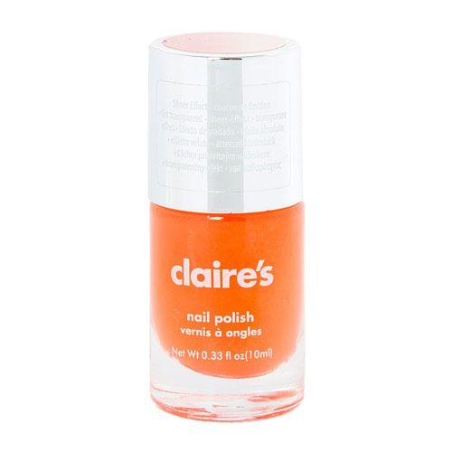 Vernis à ongles orange effet transparent