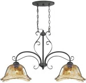 Unique Bronze Gold Art Glass Kitchen Island Chandelier Light French Country - Chandeliers ...