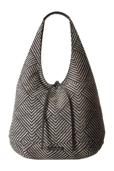 Lucky Brand Mia Hobo (Black/White) Hobo Handbags - Lucky Brand, Mia Hobo, LK-MIA-HO-002, Bags and Luggage Handbag Hobo, Hobo, Handbag, Bags and Luggage, Gift, - Street Fashion And Style Ideas
