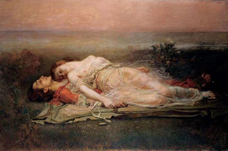 ROGELIO DE EGUSQUIZA - LA MUERTE DE TRISTÁN E ISOLDA, 1910     Now this truly is a beautiful death.