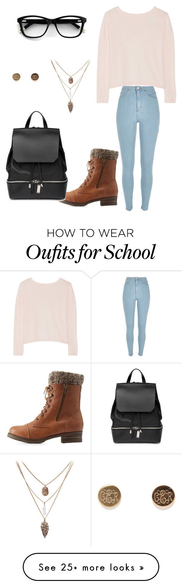 """Casual school day"" by lanasabo-i on Polyvore featuring Banjo & Matilda, River Island, Charlotte Russe and COSTUME NATIONAL"
