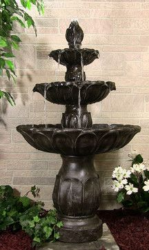 Classic Tulip 3 Tier Fountain - asian - outdoor fountains - minneapolis - Serenity Health & Home Decor