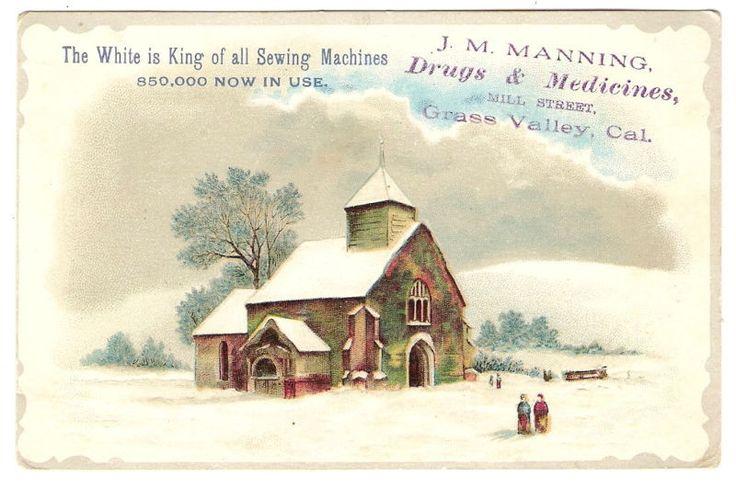 VTC WHITE SEWING MACHINE Grass Valley CA Drug Medicine #WhiteSewingMachine