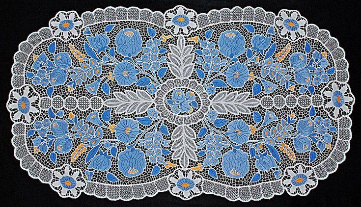 sacred geomerty in Hungarian folk art - hungarian embrodiery sacred geometry -  Blue Kalocsa embrodiery (kék kalocsai hímzés) - A magyar népművészet, népviselet és a szakrális geometria