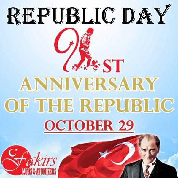 We are proud to celebrate 91st anniversary of our Republic.  Happy Republic Day October 29!   91st anniversary of our Republic of Turkey.   #MustafaKemalAtaturk #RepublicDay #RepublicDayOfTurkey #October29RepublicDay #vape #vapeon #highendmodsonly #vapelyfe #vapefam #vapearazzi #instavape #nwvapers #calivapers #eastcoastvapers #westcoastvapers #vapersuite #vapesirens #vapesiren #vapestagram #vapecommunity  #mods #vaporizer #vapeporn #vaporporn #vaporlife #vapelife #vapelove