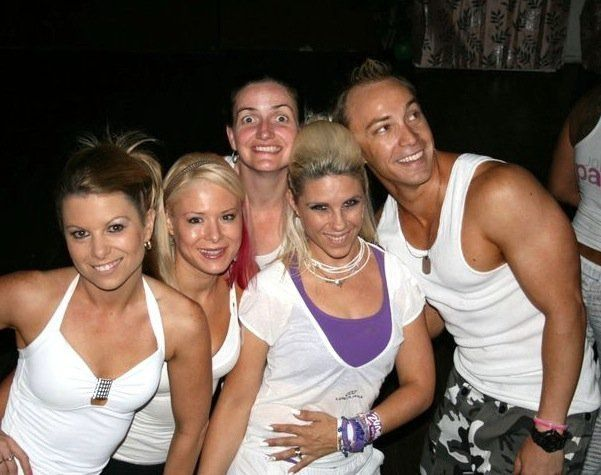 At the original Zumba Unity white party, with Kala, Sarah, Rach and Trace