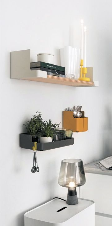 Via NordicDays.nl | Iittala Aitio Kitchen Shelves