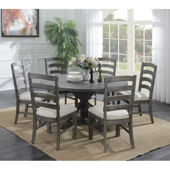 Three Posts Dumfries Dining Table Reviews Wayfair Grey Round Dining Table Dining Table In Kitchen 60 Round Dining Table