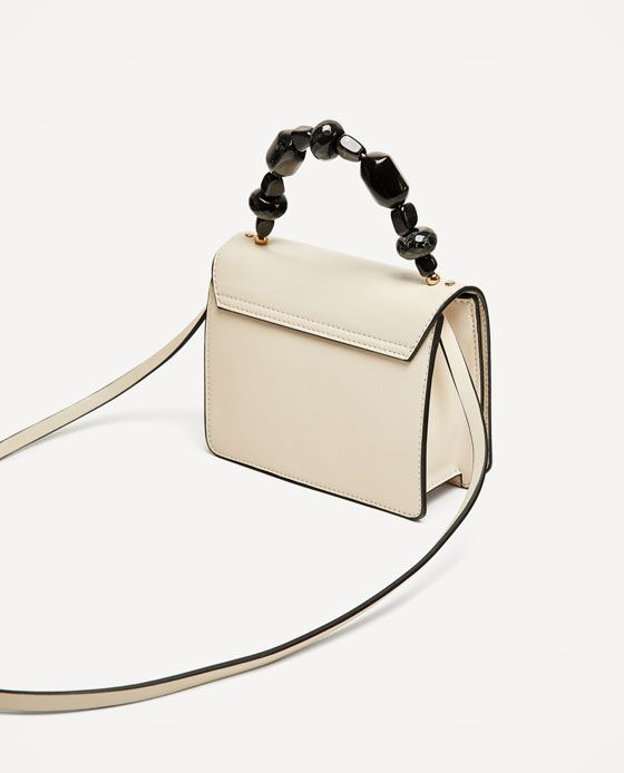 Image 3 of MINI CITY BAG WITH HANDLE DETAIL from Zara