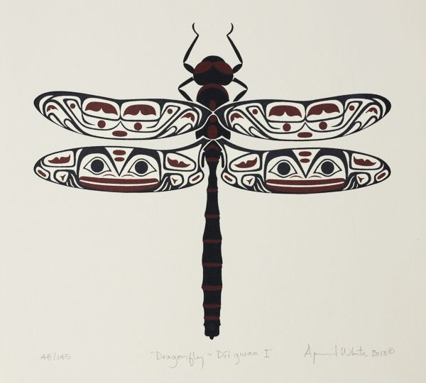 Dragonfly I, April White, Haida Nation Serigraph, Edition of 145, 2013