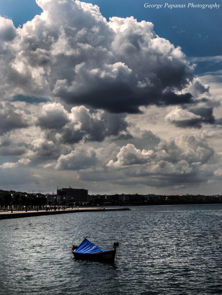 Παραλία Θεσσαλονίκης... Όμορφα σύννεφα... Thessaloniki