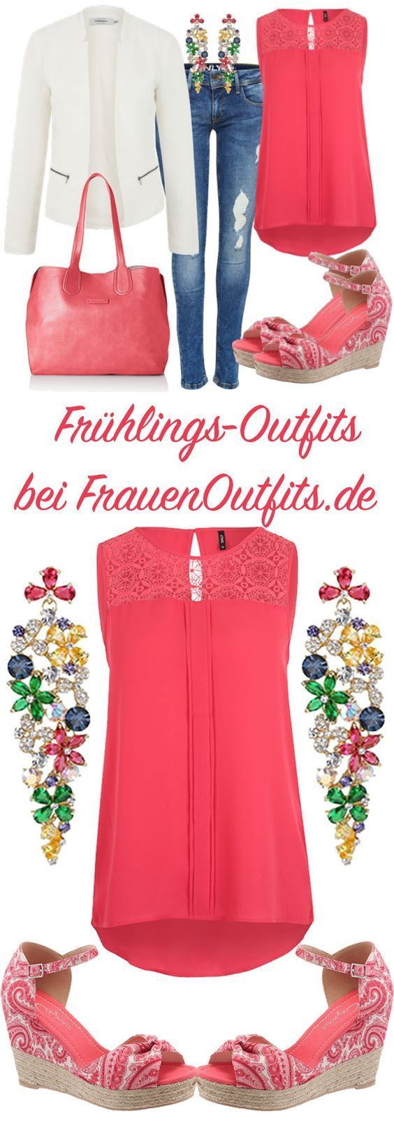 Eine farbenfrohe Outfitkombination für den Frühl…