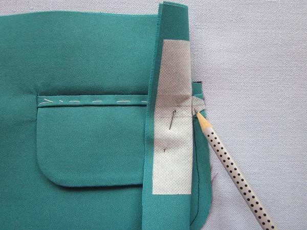 Мастер-класс «Обработка прорезного кармана с клапаном»