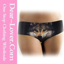 Hot Sale Black Digital Wolf Print Full Back Mature Women Sexy Panties  Best Seller follow this link http://shopingayo.space