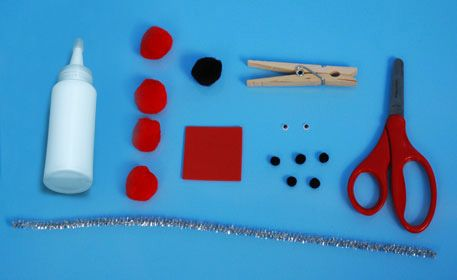 craftprojectideas.com - Love Bug Clothespins