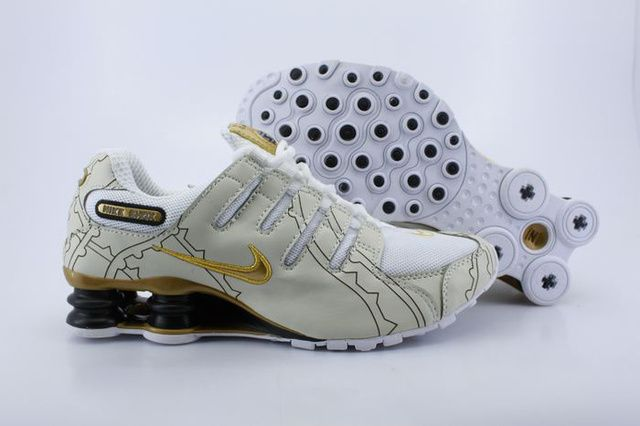 Vit Golden Kvinna Nike Shox NZ Skor 66675 Billiga