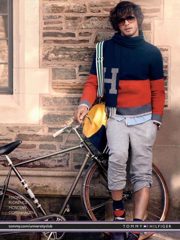 Marlon Teixeira Poses for Tommy Hilfiger Fall/Winter 2013 Campaign
