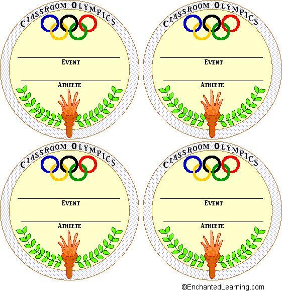Medal Templates Color: 2 - EnchantedLearning.com