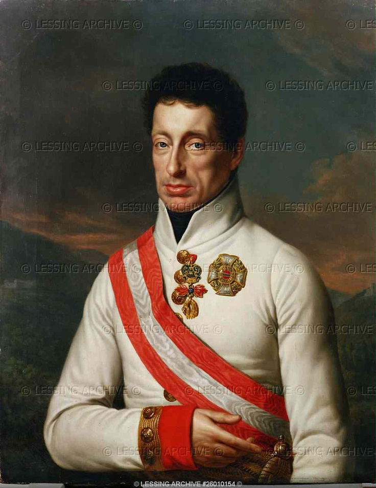 Archduke Karl (1771-1847), son of Emperor Leopold II and Infanta Maria Ludovica; Commander of the Imperial armies during the Napoleonic Wars, victor in the battle of Aspern, Austria.