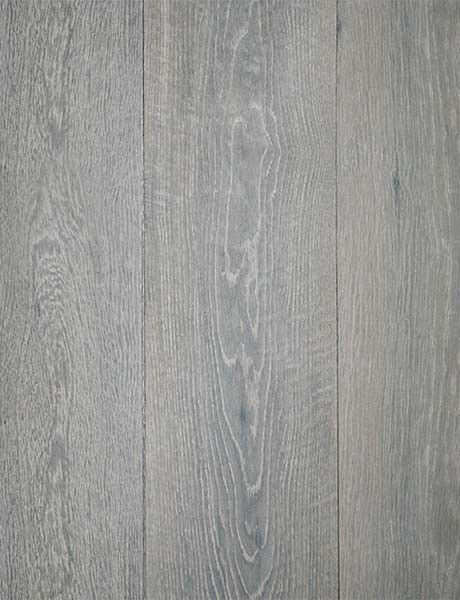 beautiful, aged gray patina in this oak, wide plank flooring