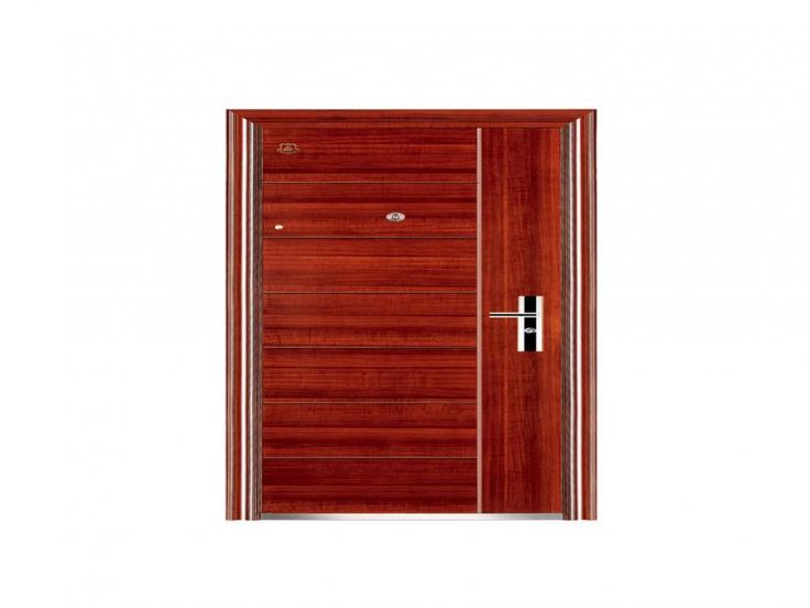 Jual steel door motif kayu dengan harga gudang