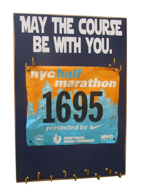 Running medal holder and race bibs medals by runningonthewall