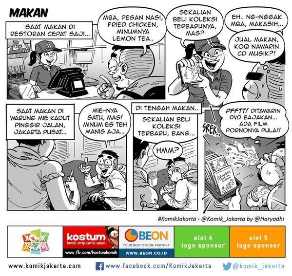 Makan by @haryadhi #KomikJakarta @mice_cartoon http://t.co/jU4iNszrqa