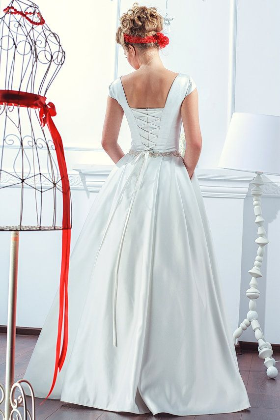 princess wedding dress traditional sleeveless by KotenStudio