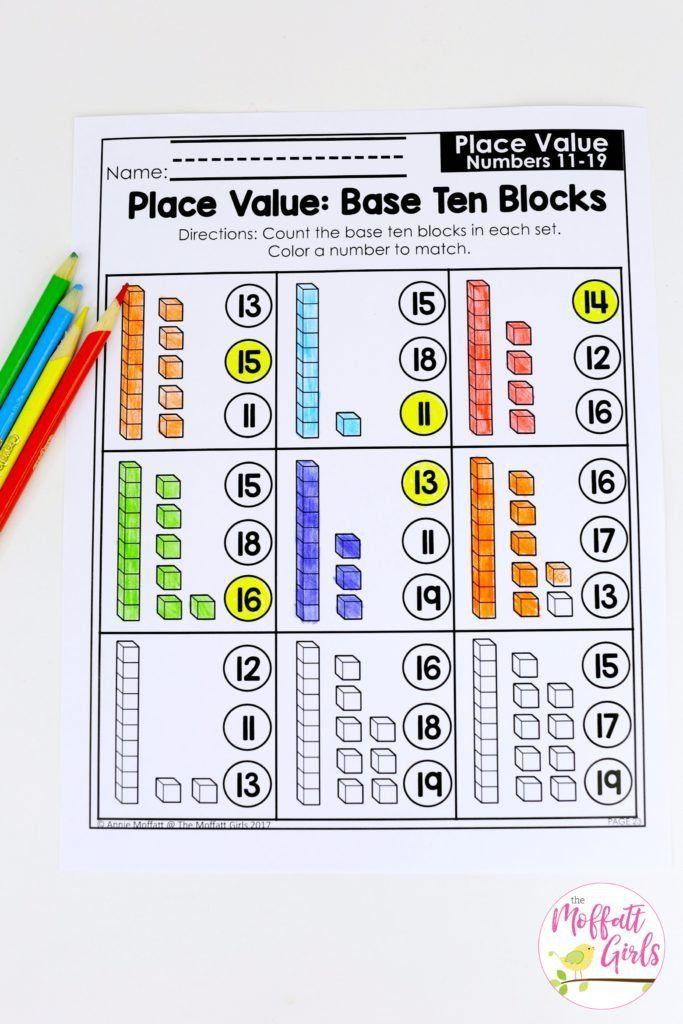 Kindergarten Math Worksheets Place Values Kindergarten Math Place Value Tens And Ones Worksheets Math Pages Math Place Value