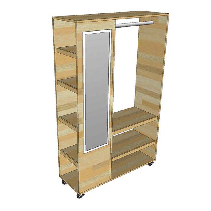 Diy portable closet organizer pdf plan diy creators