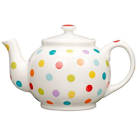 I love spotty teapots  John Lewis Spot Teapot