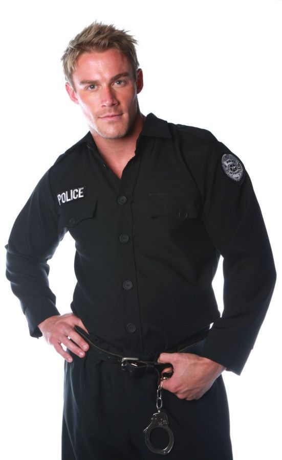 men's costume: police shirt