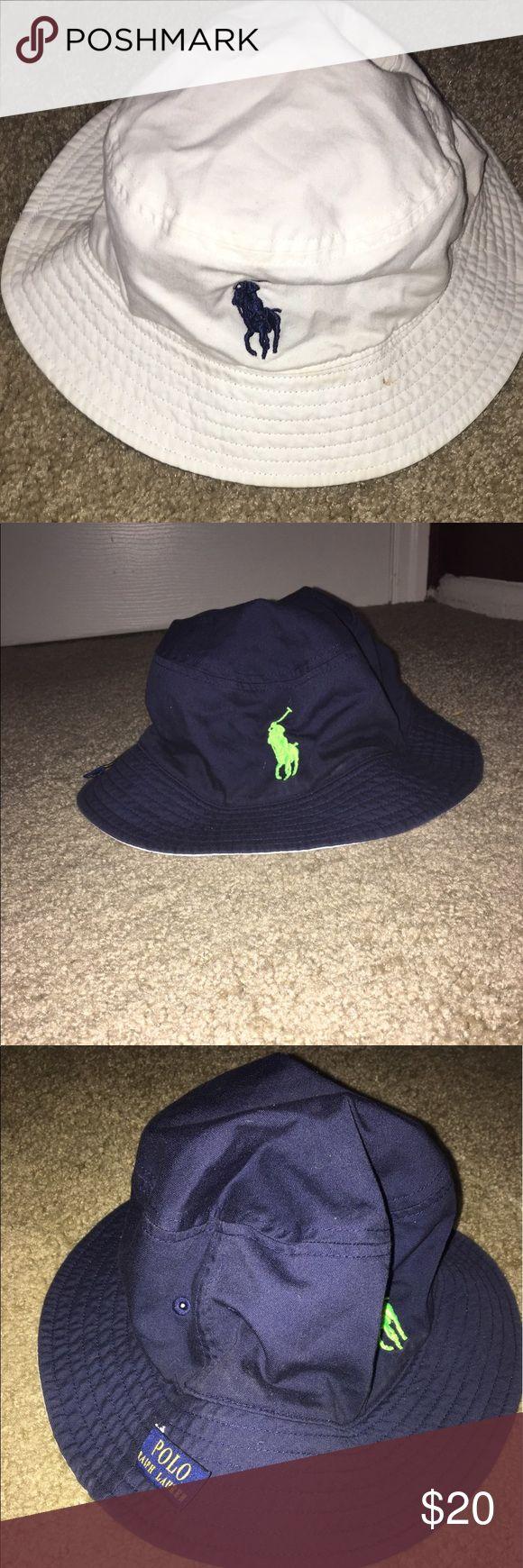 2 sided Authentic Ralph Lauren Bucket Hat One size, makeup mark Polo by Ralph Lauren Accessories Hats