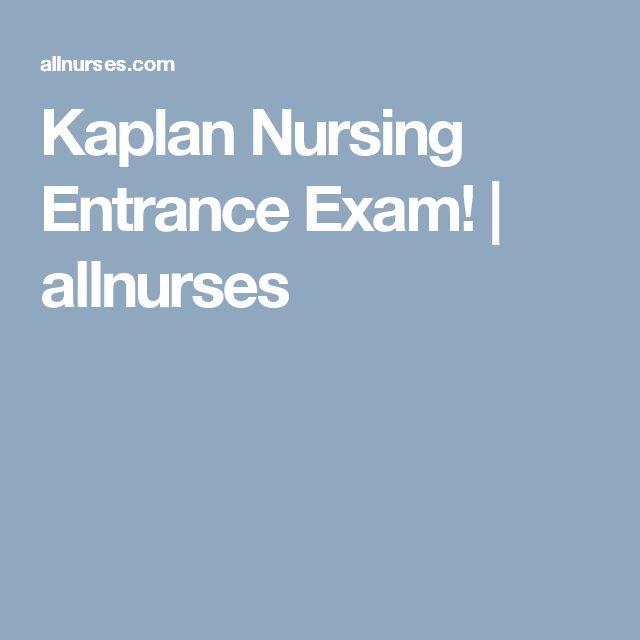 Kaplan Nursing Entrance Exam Questions