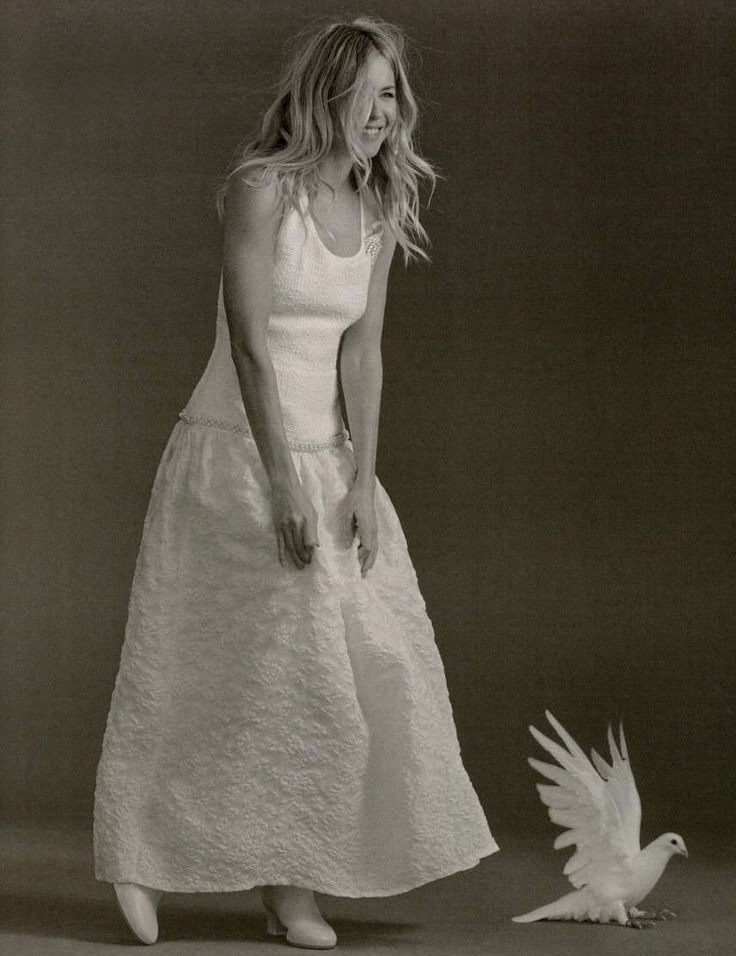 Sienna Miller wearing Mother of Pearl Astrid dress from SS17 collection on Harper's Bazaar UK#motherofpearl #harpersbazaar #siennamiller