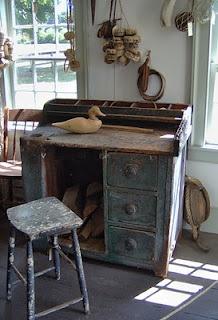 primitive desk                           ****Desks Chairs, Cobbler Work, Cobbler Benches, Handmade Cabinets, Crafts Room, Cobbler Tables, Fabulous Pots, Definition Primitives, Craft Rooms